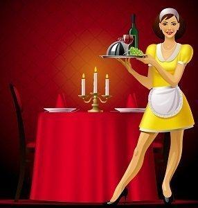 how serve food hotel restaurant