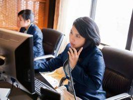 hotel receptionist script dialogue reservation guest hotel