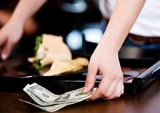 restaurant waiter tips