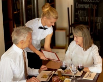 Food and beverage service conversation spo of front office for Fine dining service rules